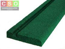 Gumiszegély zöld