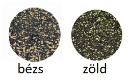 Választható EPDM szórt színek